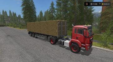 FS19 Fliegl Flatbed Autoload 4 0 0 0 - Farming Simulator 19 Mod