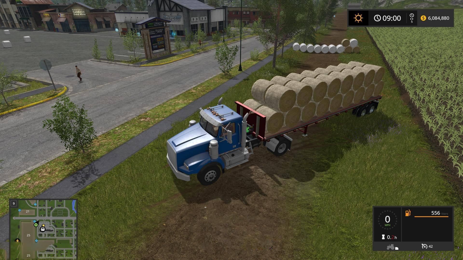 FS19 US Trailer with Autoload Feature - Farming Simulator 19 Mod