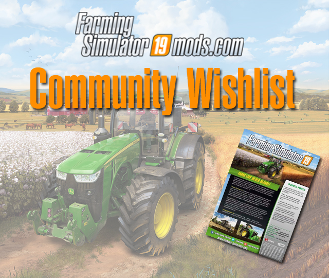 Farming Simulator 19 - Community Wishlist - Farming