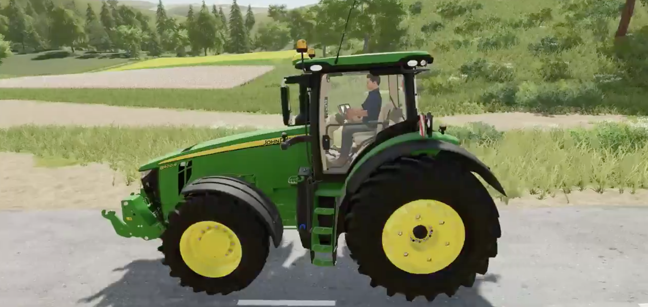 John Deere 8400R Tractor in Farming Simulator 19 game