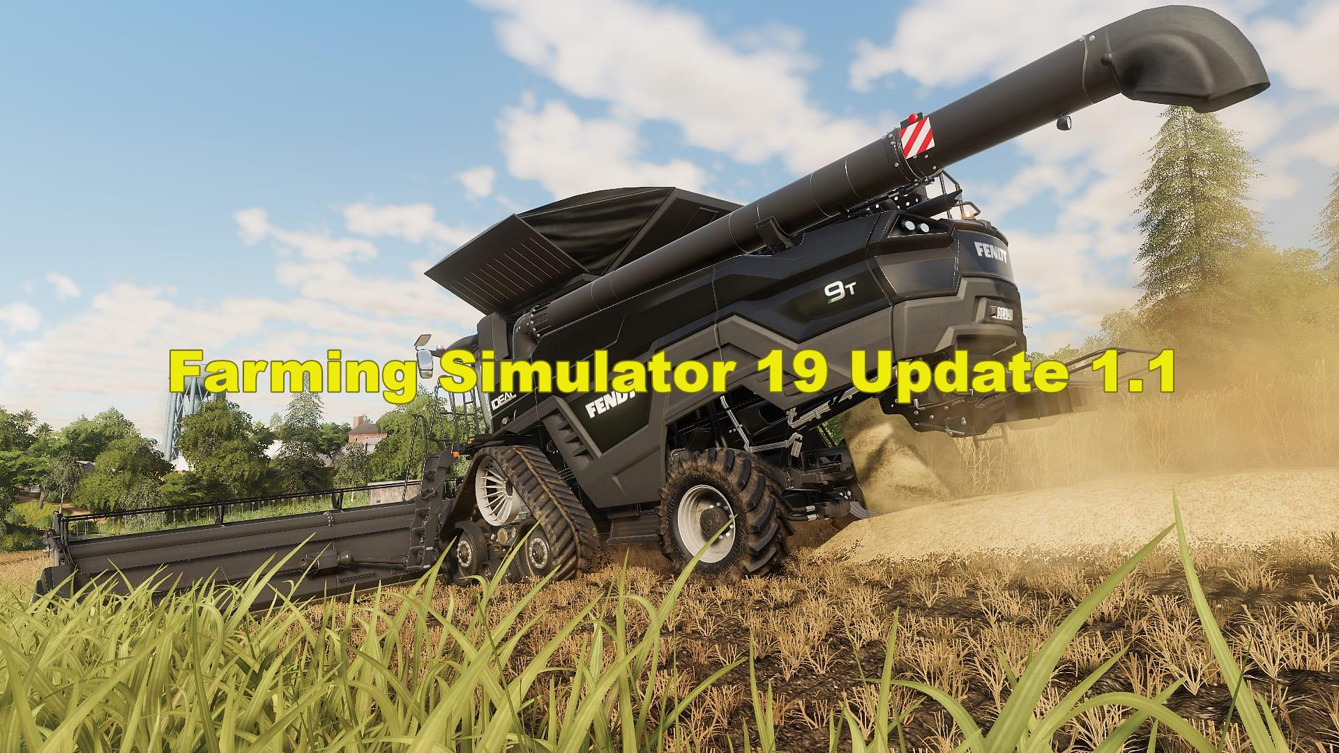 Farming Simulator 19 Update Patch V1 1 Farming Simulator 19