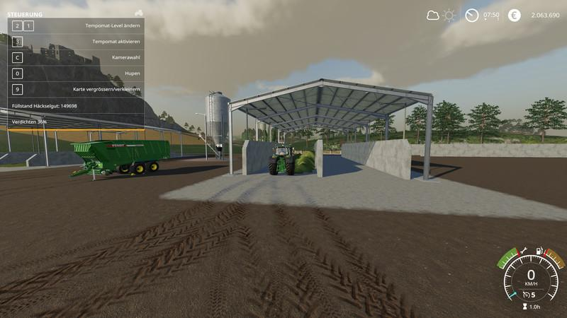 Double Silage Silo Placeable v1 0 FS19 - Farming Simulator 19 Mod