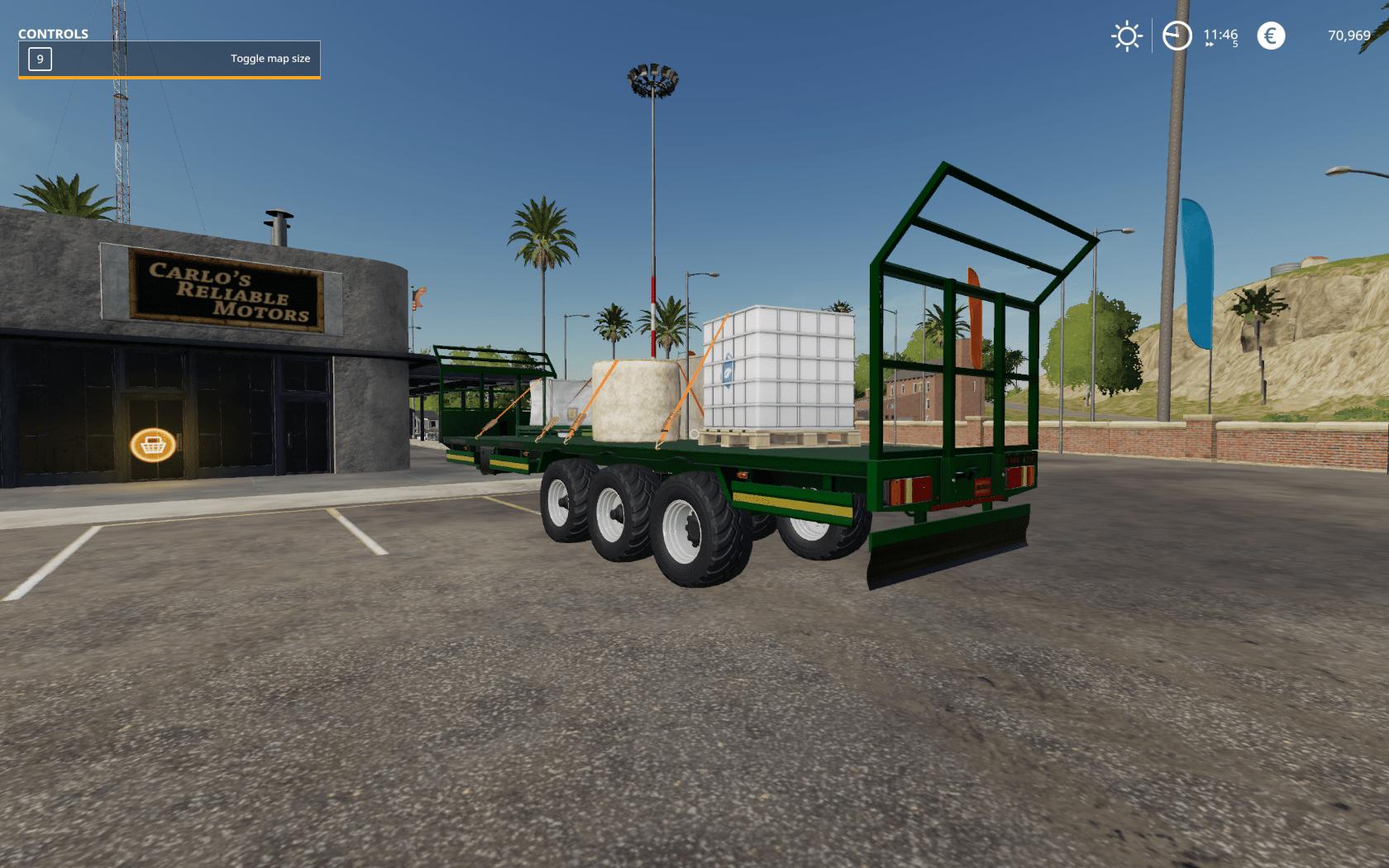 Fliegl Bale Trailer FS19 - Farming Simulator 19 Mod | FS19 mod