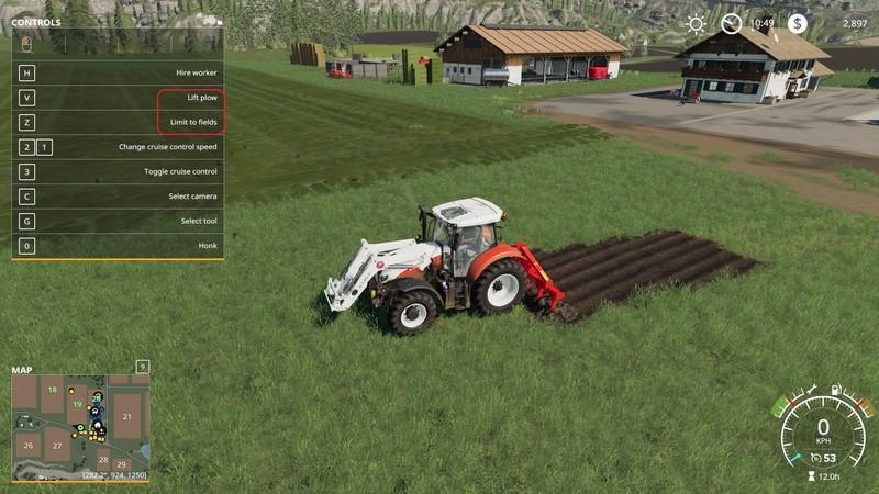 Kuhn DC401 with plow function v1 0 FS19 - Farming Simulator 19 Mod