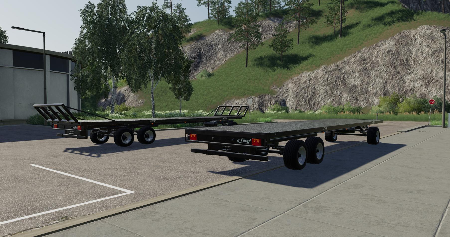 Fliegl DPW 180 Squarebale Autoload V0 0 2 0 FS19 - Farming Simulator