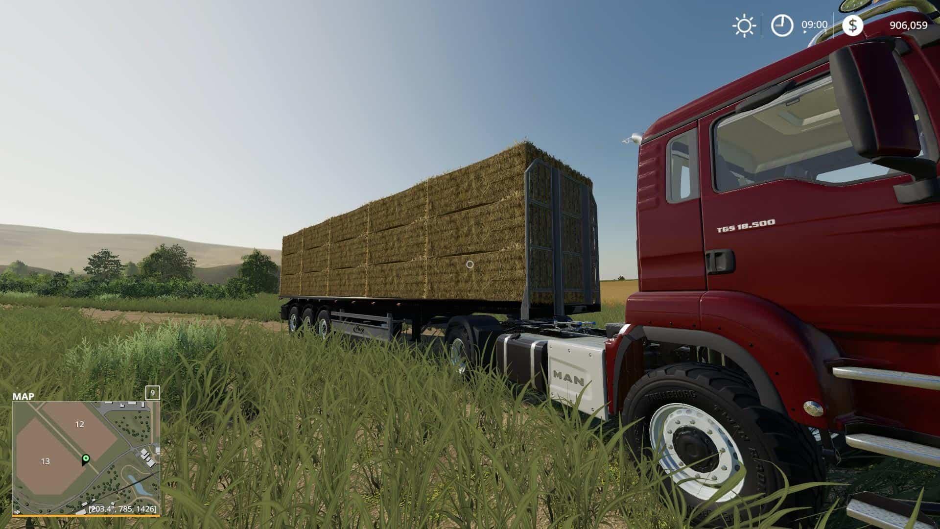 Fliegl flatbed squarebale autoload v1 0 0 2 FS19 - Farming