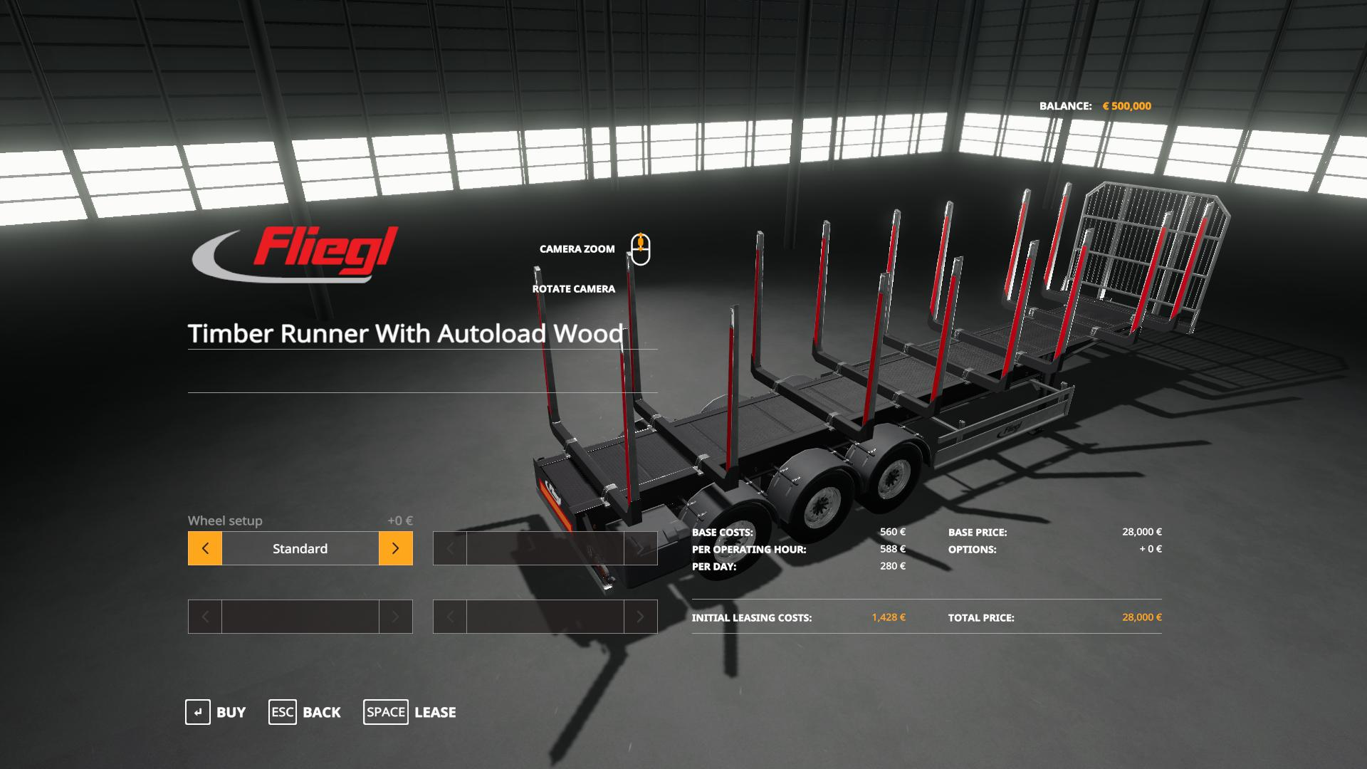 Fliegl Timber Runner With Autoload Wood v1 0 FS19 - Farming