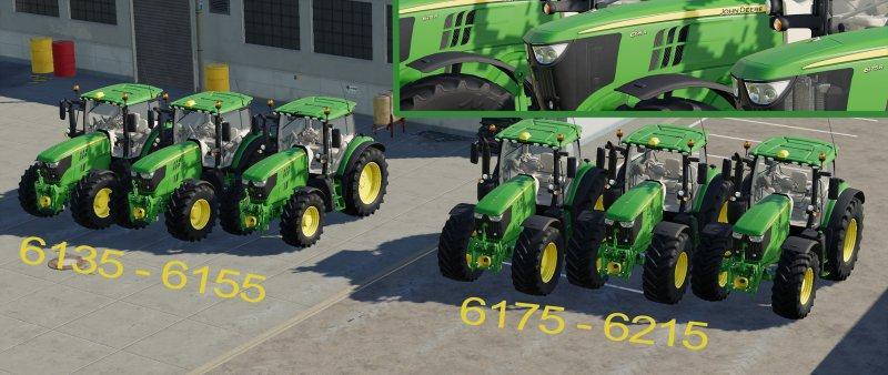 John Deere 6R series Pack v0 1 FS19 - Farming Simulator 19 Mod