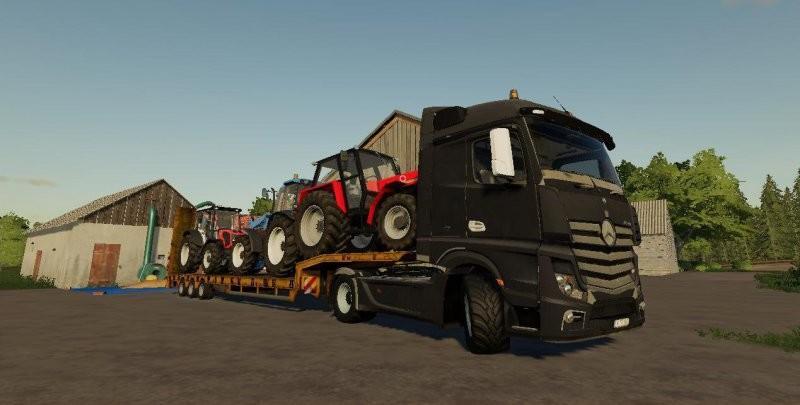 Mercedes-Benz Actros MP4 FS19 - Farming Simulator 19 Mod   FS19 mod