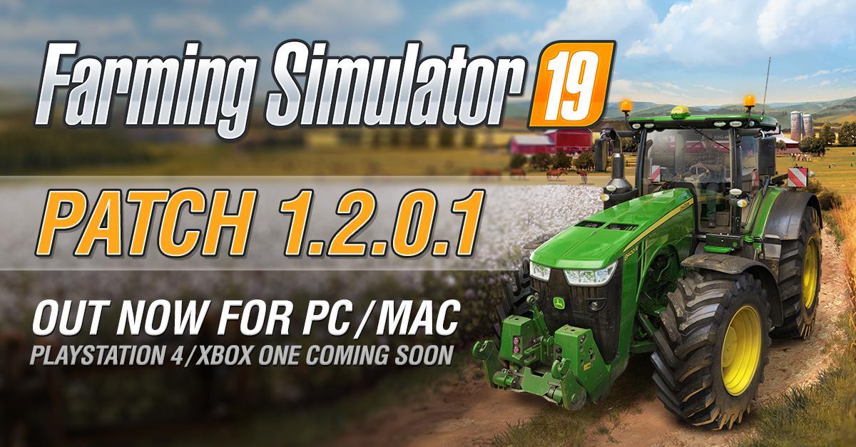 Farming Simulator 19 - Patch 1 2 0 1 for PC & Mac - Farming