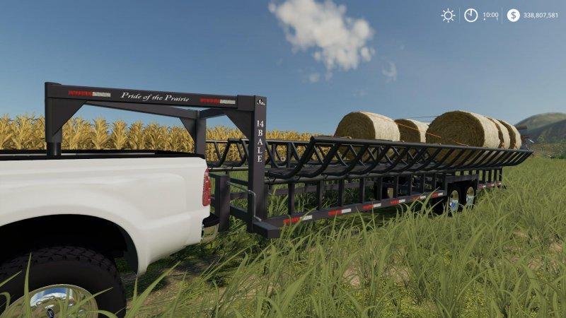 Prarie Bale Trailer v1 0 FS19 - Farming Simulator 19 Mod
