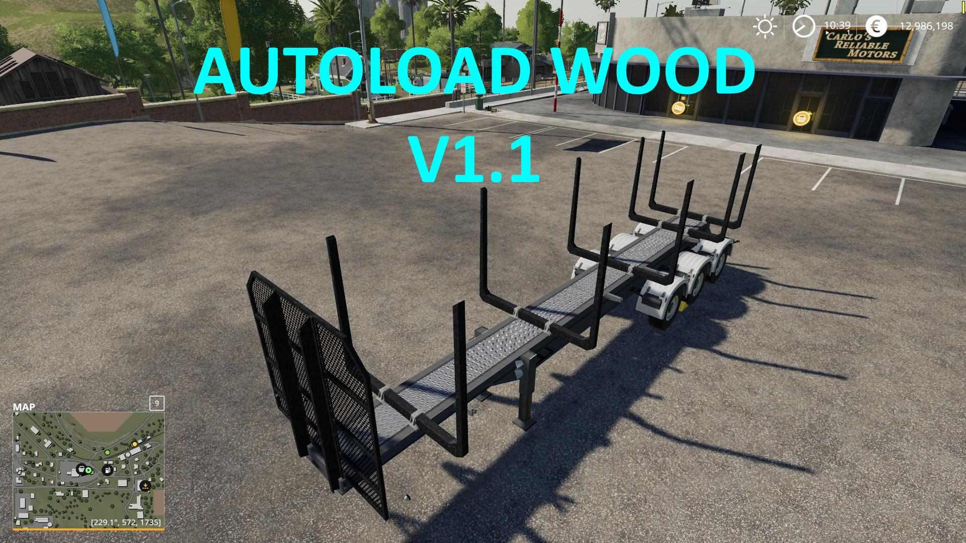 Timber Runner Wide With Autoload Wood v1 1 FS19 - Farming Simulator