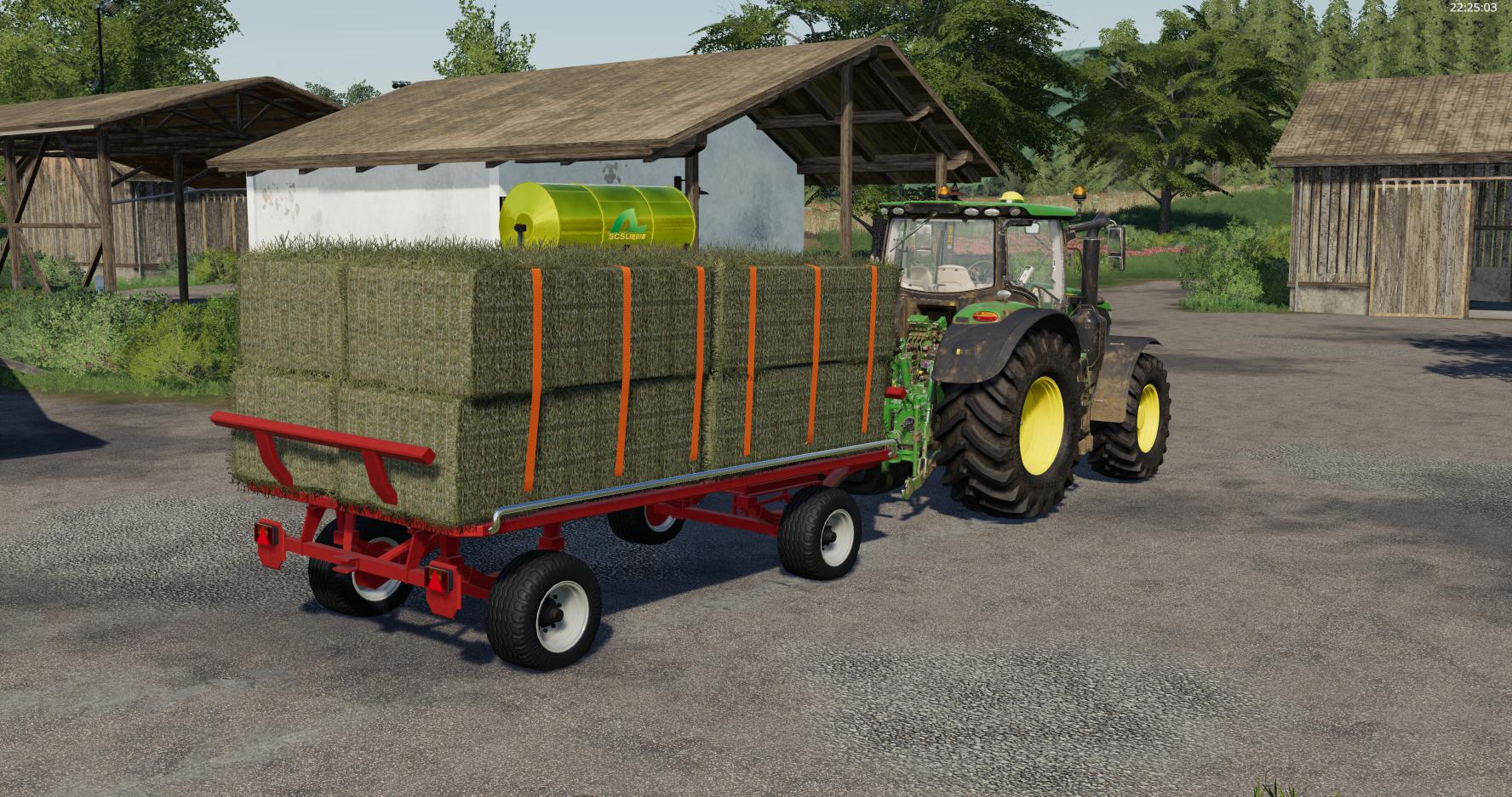 Krone Emsland Ballen Wagon v1 0 FS19 - Farming Simulator 19 Mod