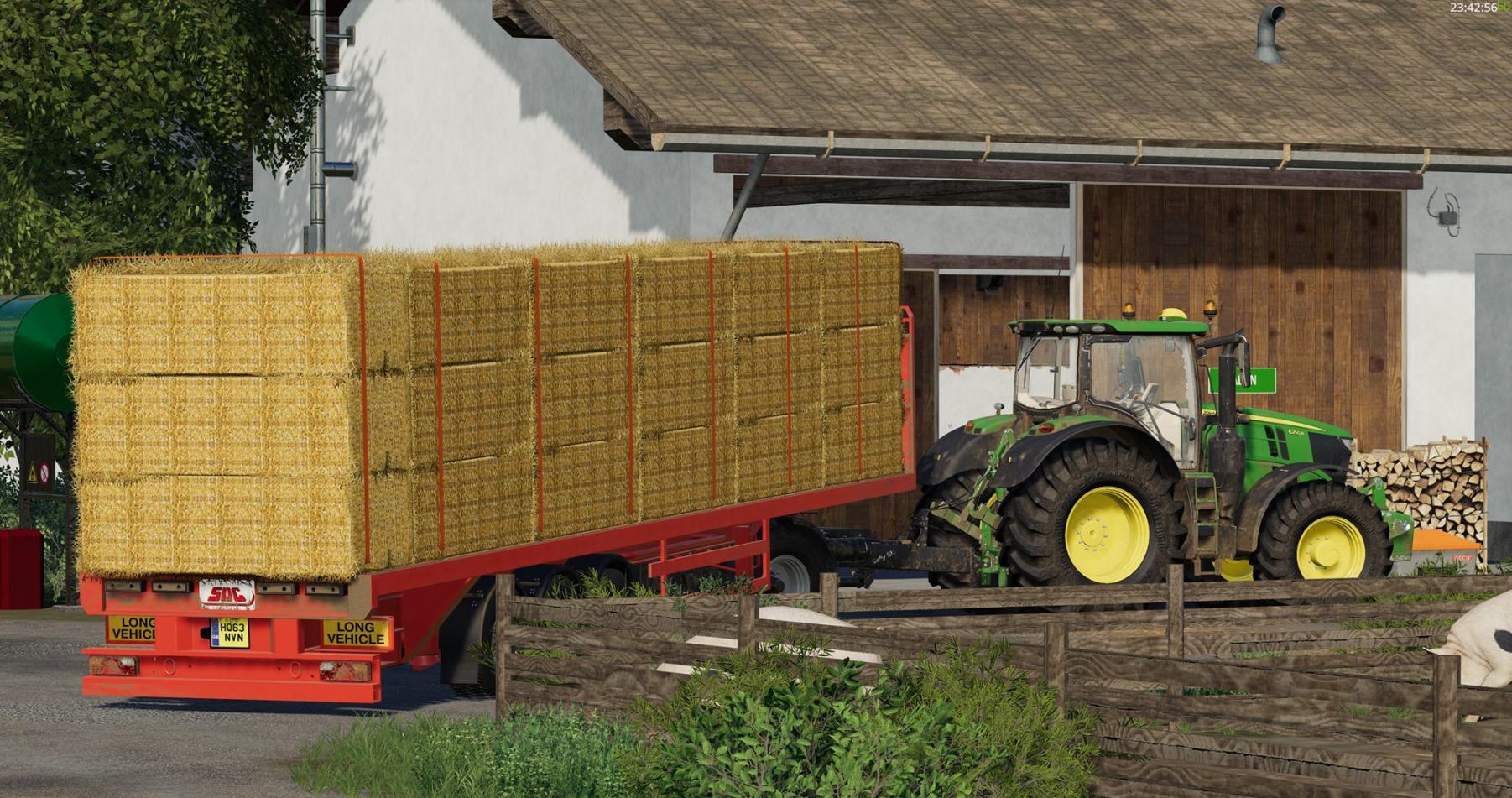 SDC Flatbed Trailer with Autoload V1 0 FS19 - Farming