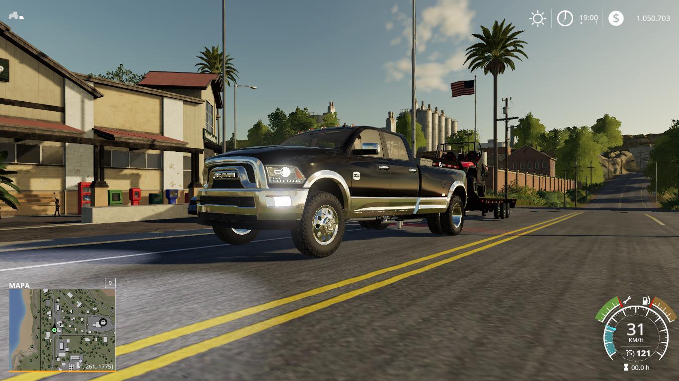 Dodge Ram 3500 Heavy Duty V1 0 Fs19 Farming Simulator 19 Mod Fs19 Mod