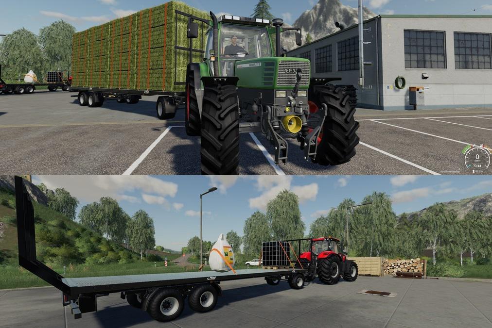 Fliegl DPW 180 Quaderballen Autoload v1 0 FS19 - Farming