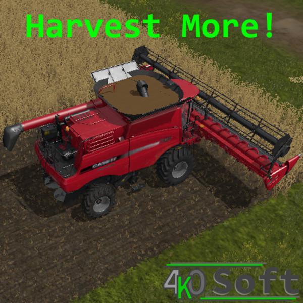 Harvest More V1.0 FS19 - Farming Simulator 19 Mod