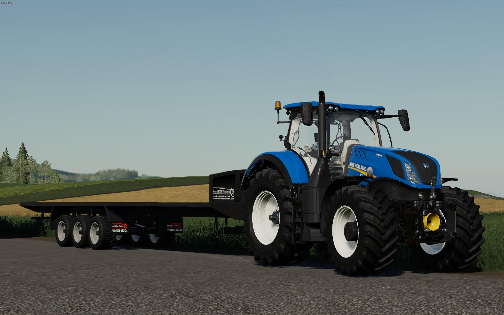 Larrington 42 Foot Bale Trailer v1 0 0 0 FS19 - Farming Simulator 19