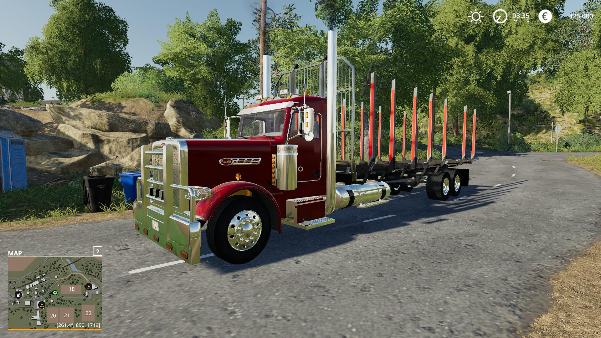 Peterbilt log truck v1 0 FS19 - Farming Simulator 19 Mod