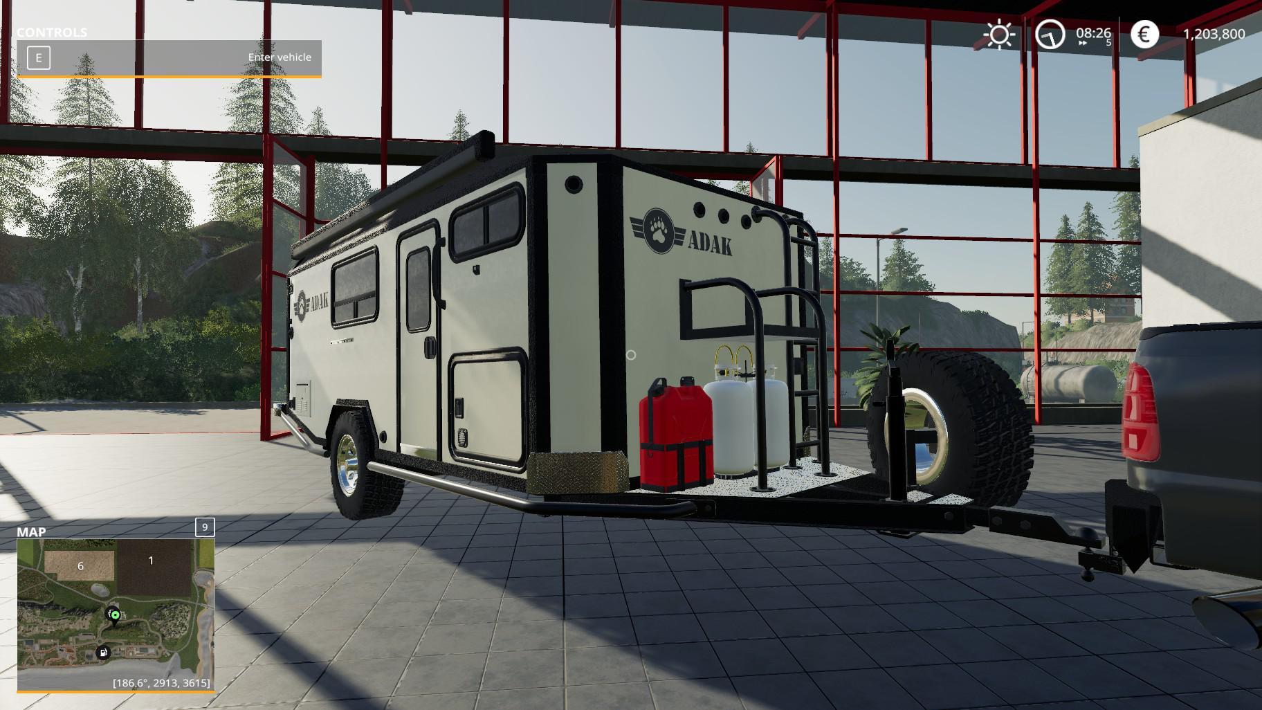 Adak Off Road Camper v1 0 FS19 - Farming Simulator 19 Mod