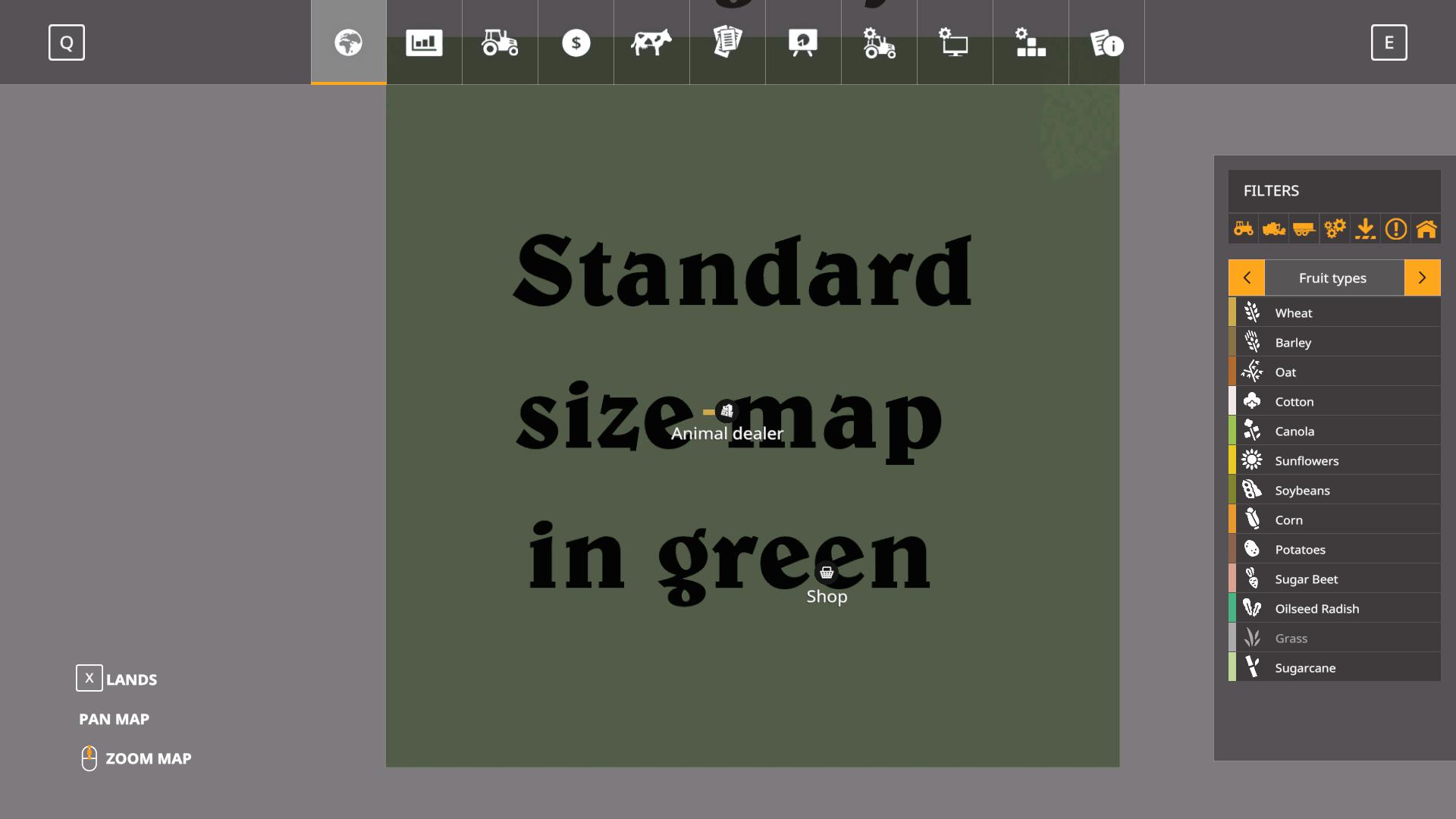 Blank map 4k with infolayer v1 0 FS19 - Farming Simulator 19 Mod