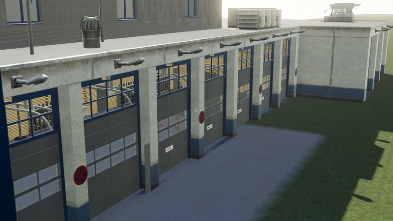 Fire station completely new construction v1 0 FS19 - Farming