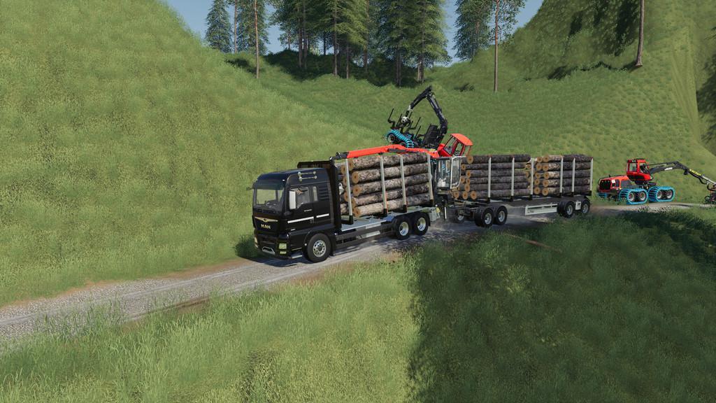 Fliegl Log Trailer v1 0 FS19 - Farming Simulator 19 Mod