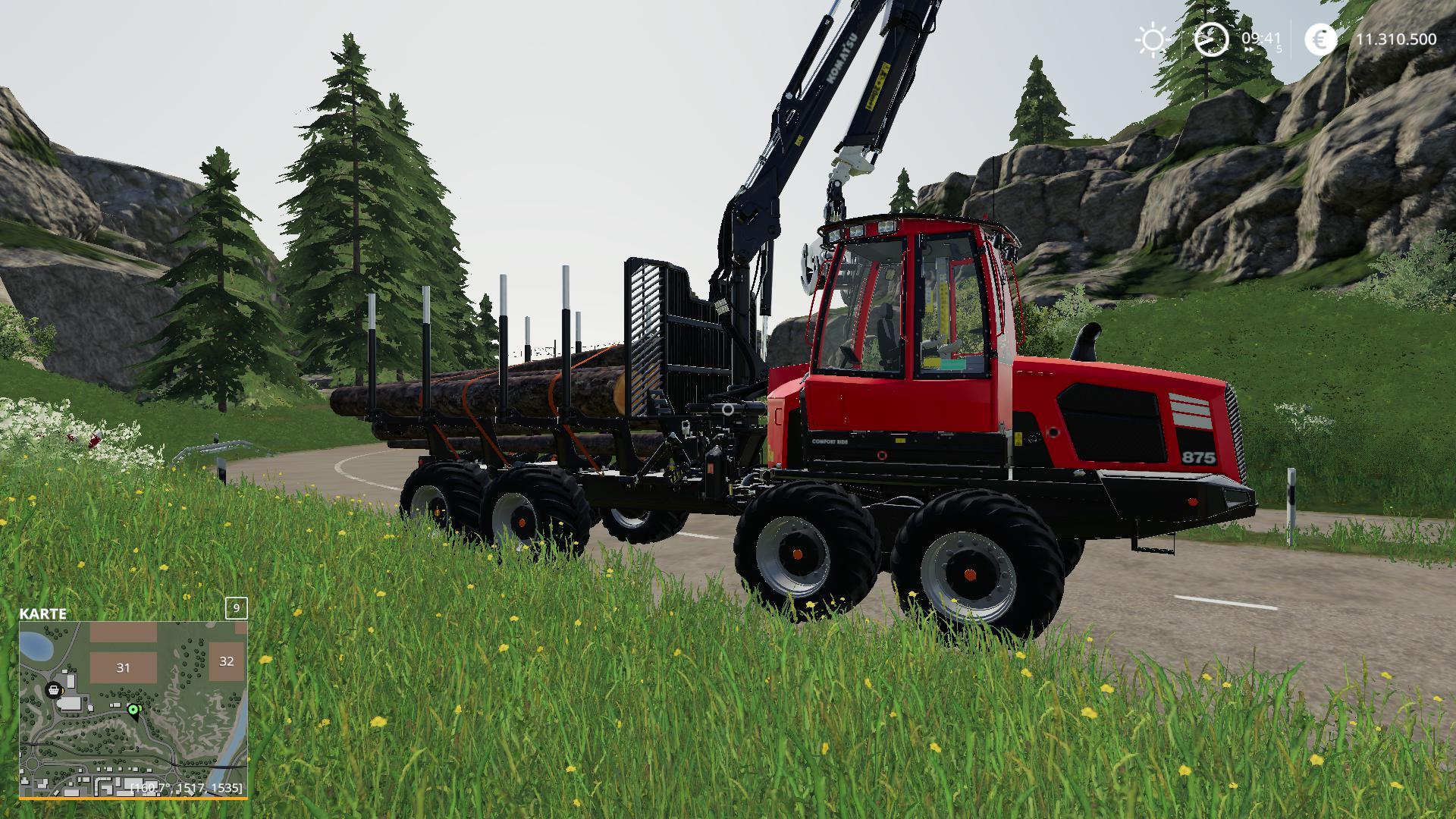 Gta 4 Stevie Autos Karte.Komatsu 875 Autoload V2 0 Fs19 Farming Simulator 19 Mod