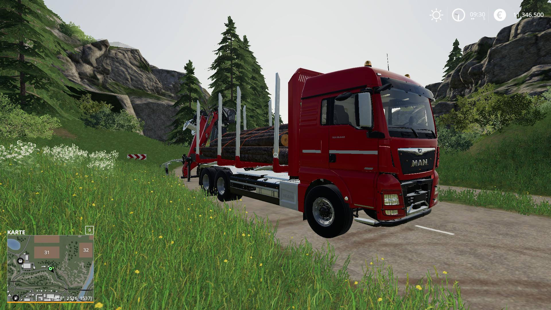 MAN Forst LKW with Autoload Wood v2 0 FS19 - Farming Simulator 19