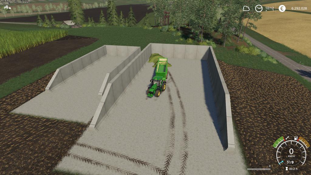 Bunker Silo v1 0 0 0 FS19 - Farming Simulator 19 Mod | FS19 mod