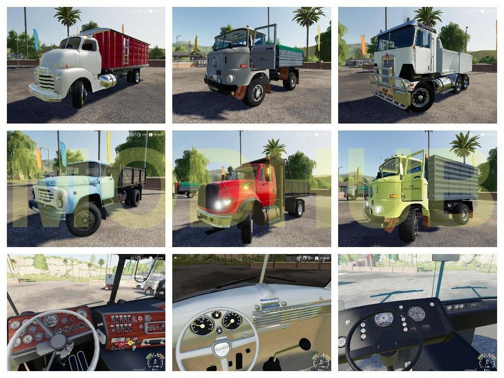 Dump trucks Pack v1.0 FS19 - Farming Simulator 19 Mod ...Kenworth Dump Trucks Fs19
