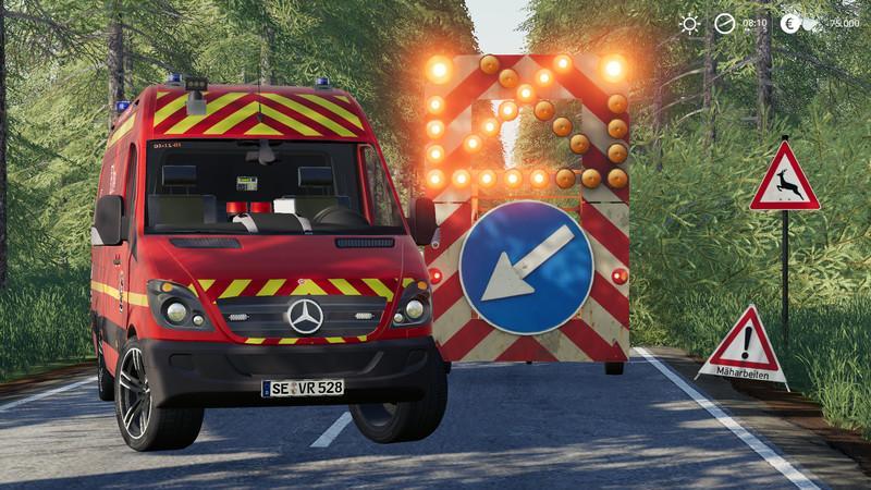 Elw Mercedes-Benz Sprinter FS19 - Farming Simulator 19 Mod