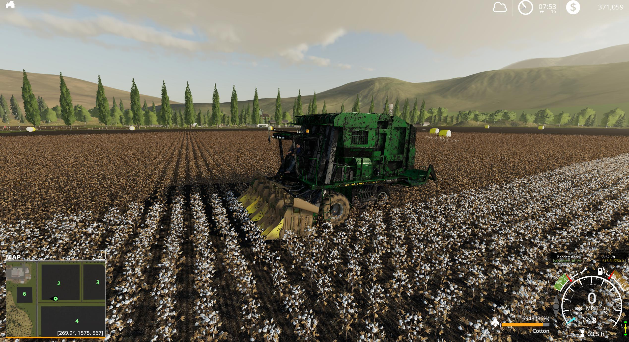 John Deere 7760 Cotton Baler v1 0 FS19 - Farming Simulator
