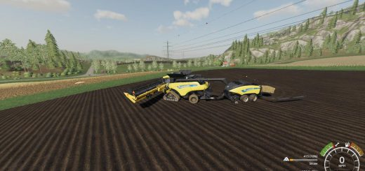 New Holland TC 57 + PLATAFORMA SUPER FLEX v1 0 FS19 - Farming