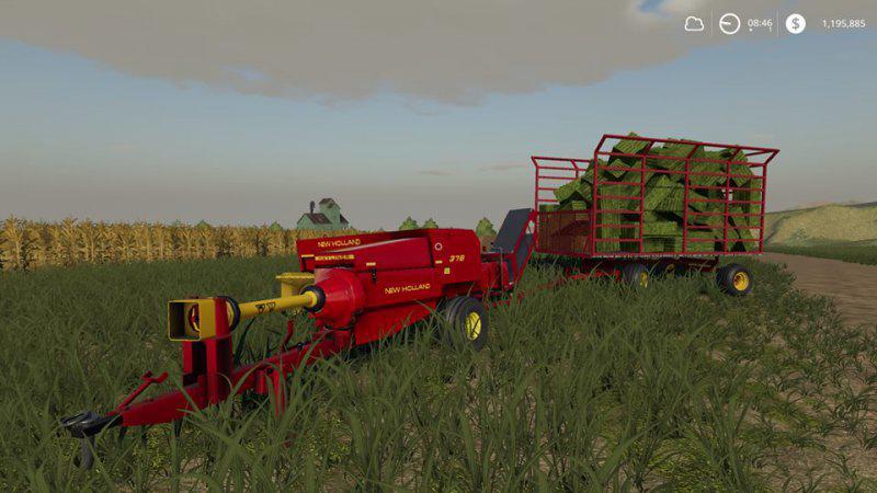 New Holland 378 small square baler v1 0 FS19 - Farming