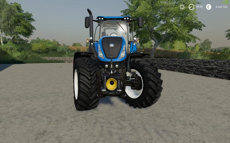 New Holland T7 series v1 0 0 0 FS19 - Farming Simulator 19