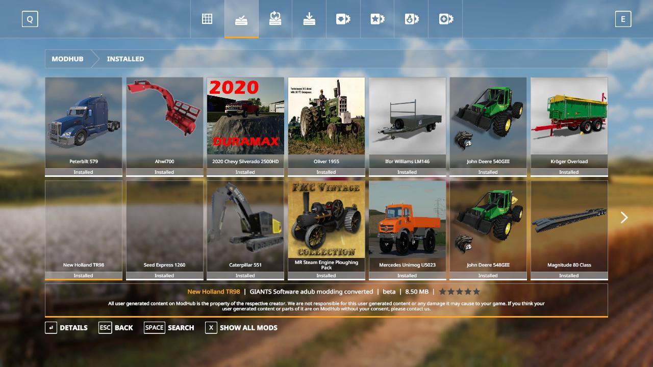 New Holland tr98 beta FS19 - Farming Simulator 19 Mod   FS19 mod