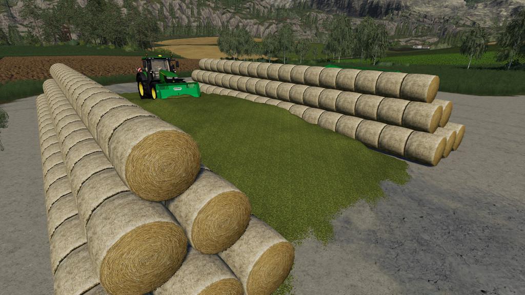 Round Bale Bunker Silo v1 0 0 0 FS19 - Farming Simulator 19 Mod