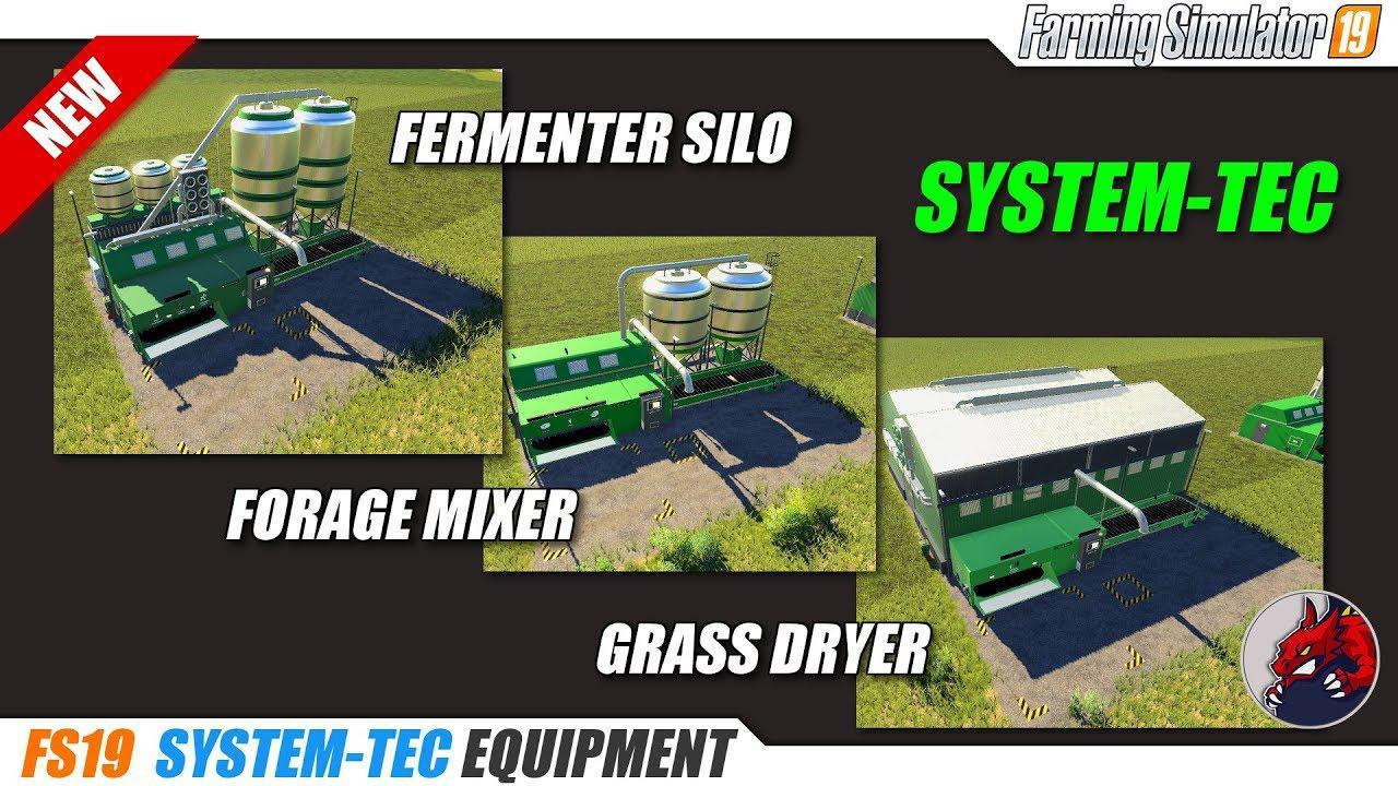 System Tec Fermenting Plant v1 0 FS19 - Farming Simulator 19 Mod