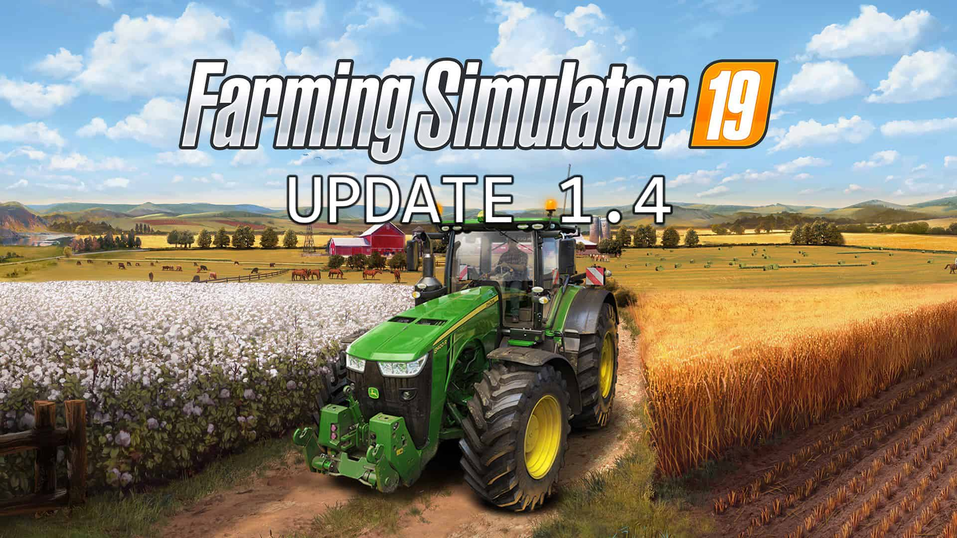 Farming Simulator 19 Update v1 4 FS19 - Farming Simulator 19