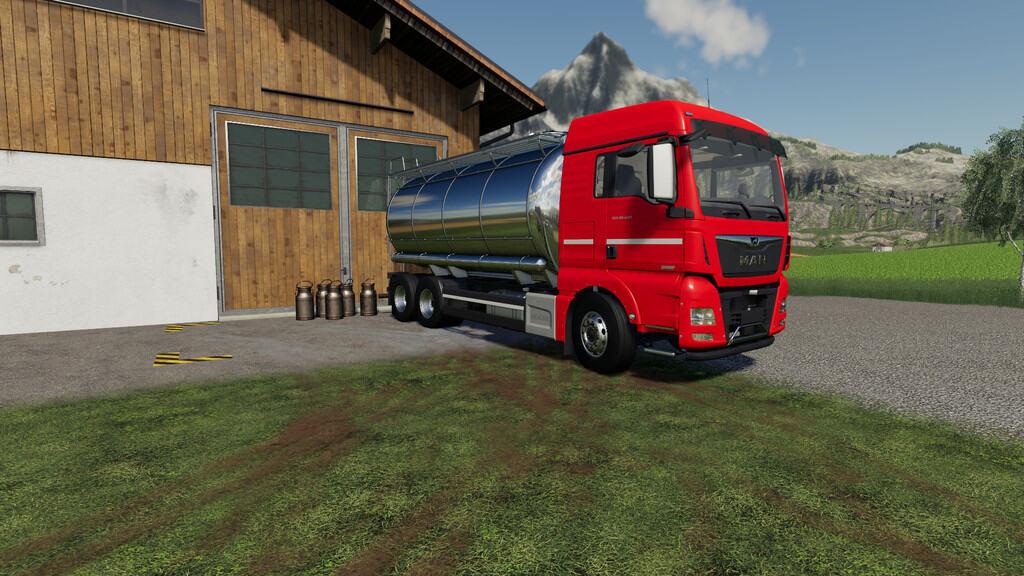 Man Tgx Tanker Truck 1 1 0 0 Fs19 Farming Simulator 19 Mod Fs19 Mod