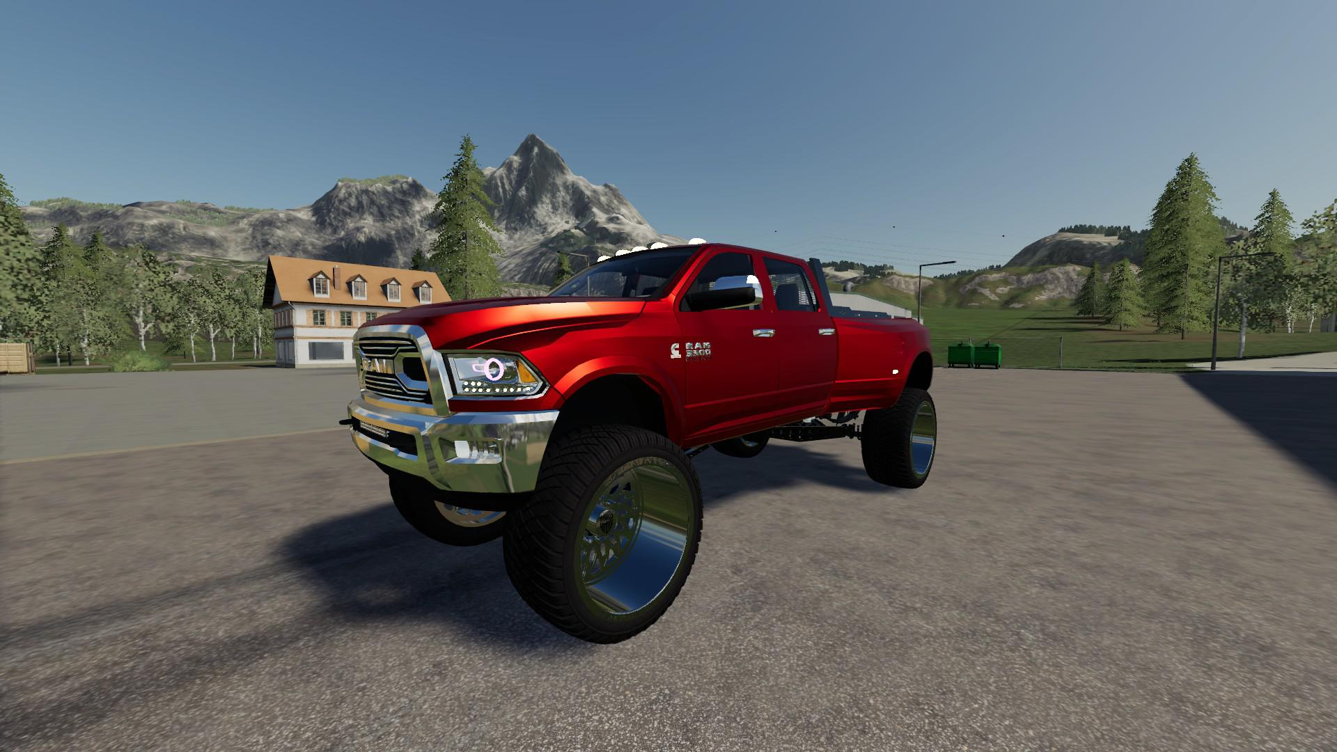 Dodge Ram 3500 Lifted V3 0 Fs19 Farming Simulator 19 Mod Fs19 Mod