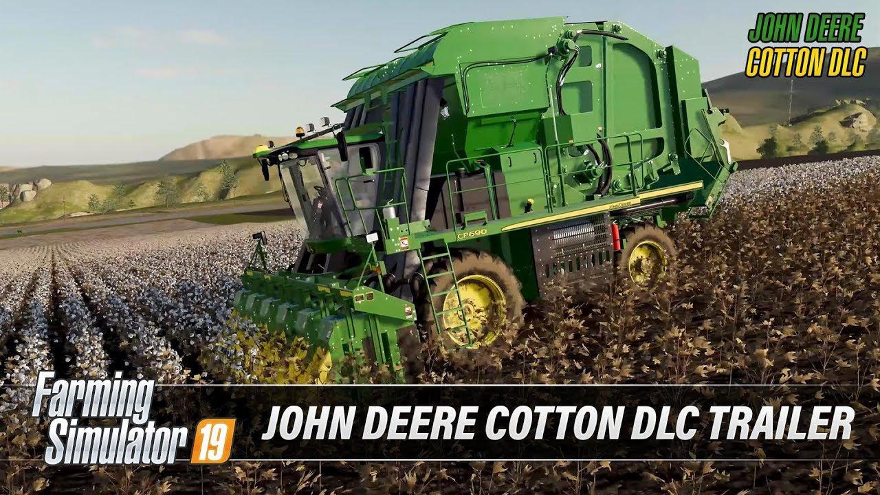 John Deere Cotton DLC Trailer v1 0 FS19 - Farming Simulator 19 Mod