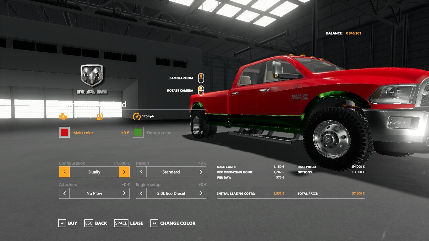 Dodge Ram 3500 V1 0 Fs19 Farming Simulator 19 Mod Fs19 Mod
