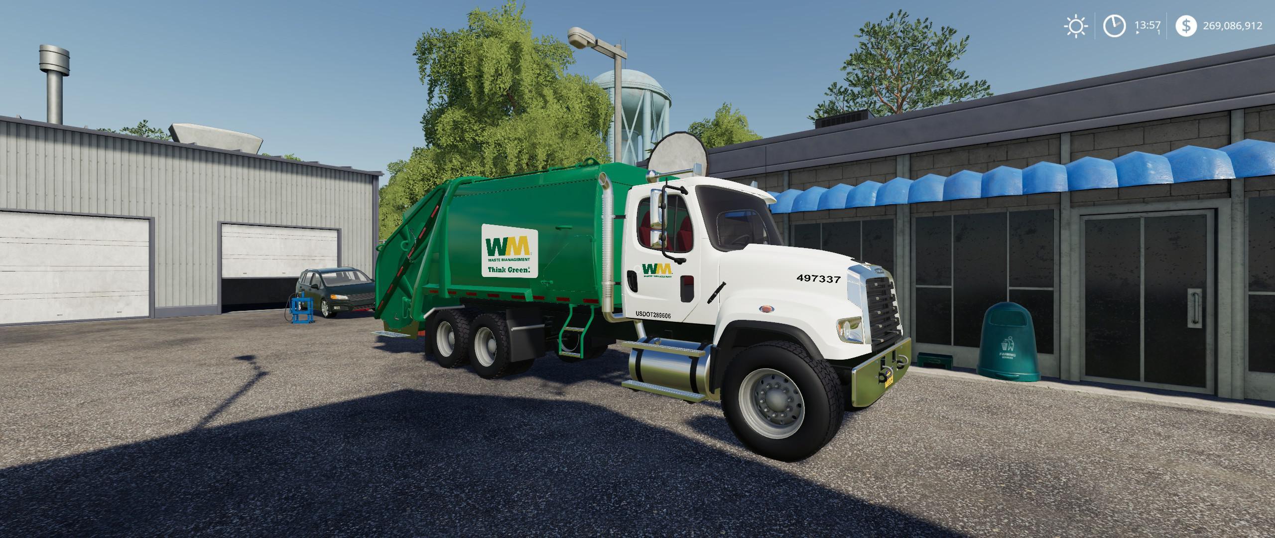 Freightliner F114SD Garbage Truck v1 0 0 0 FS19 - Farming