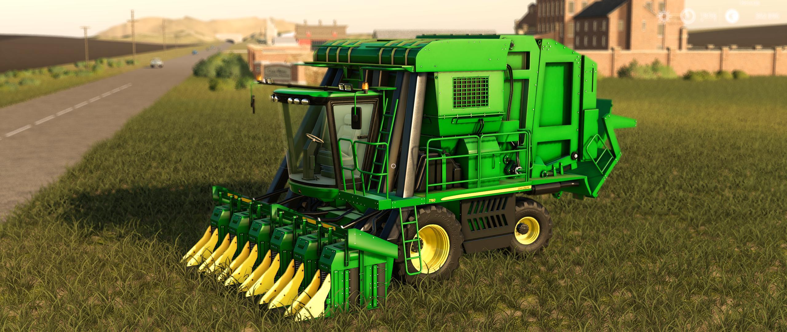 JOHN DEERE 7760 COTTON Baler v1 1 FS19 - Farming Simulator
