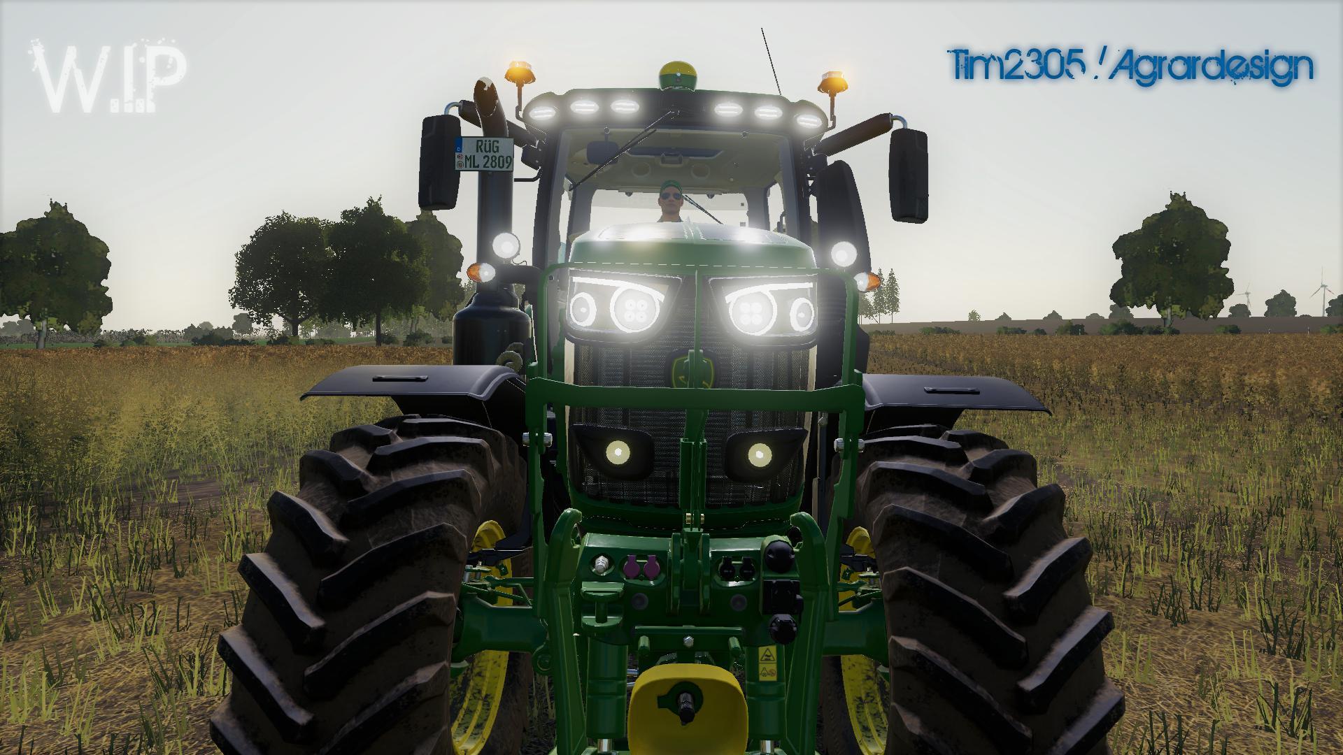 John Deere 6R v2 0 2 FS19 - Farming Simulator 19 Mod | FS19 mod