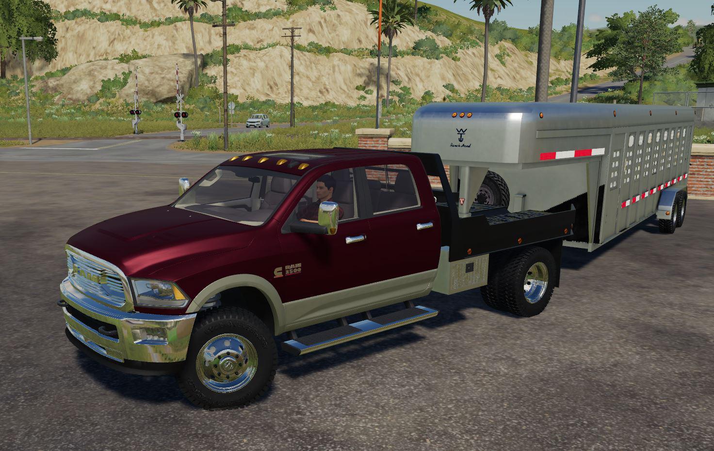 Dodge Ram 3500 Flatbed V1 0 0 0 Fs19 Farming Simulator 19 Mod Fs19 Mod