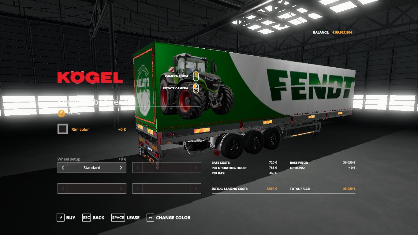 FENDT KOGEL AUTOLOADER TRAILER v1 0 FS19 - Farming Simulator