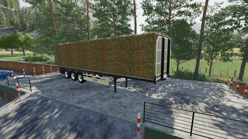 Fliegl Flatbed Semitrailer v1 1 0 0 FS19 - Farming Simulator